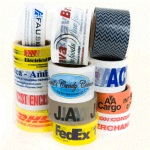"Custom Printed PVC Tape One Color, 3"" Width, 1000 yds. Per Roll, Five Case Minimum"